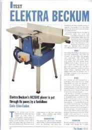 ELEKTRA BECKUM - D & M Tools