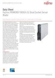 Data Sheet Fujitsu PRIMERGY BX924 S2 Dual Socket Server Blade