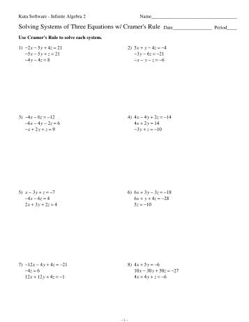Worksheets Solving Systems Of Equations Algebraically Worksheet solving for a variable worksheet kuta intrepidpath direct and inverse variation worksheets