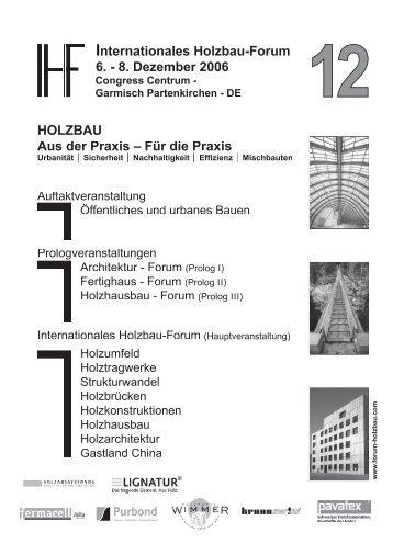 HOLZBAU Aus der Praxis - Hochschule für Architektur, Holz und ...
