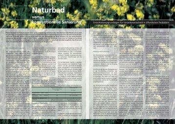 Naturbad versus konventionelle Sanierung - Hunziker Betatech AG