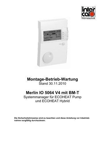 Montage-Betrieb-Wartung Merlin IO 5064 V4 mit BM-T - Intercal