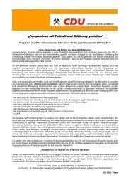 Download des Kommunal-Wahlprogramms - Willkommen beim ...