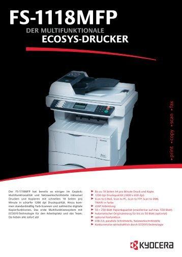 PDF-Datenblatt: Kyocera FS-1118MFP