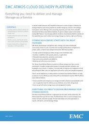 H7472.2 EMC Atmos Cloud Delivery Platform, Data Sheet