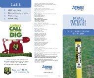 DAMAGE PREVENTION AWARENESS C.A.R.E. - Atmos Energy