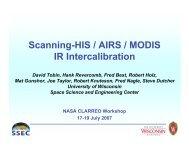 + AIRS/MODIS/HIS Inter-calibration/ David Tobin, U - Nasa
