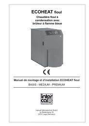 Manuel de montage et d'installation ECOHEAT fioul - Intercal