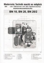 Bedienungsanleitung BN 10, 20 - Intercal