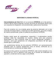 BIENVENIDO AL MUNDO INTERCAL Intercambiadores de Calor ...