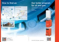 Our boiler program for oil and gas How to find us - Intercal