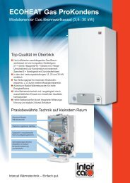 ECOHEAT Gas ProKondens - Intercal
