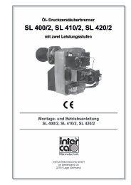 und Betriebsanleitung SL 400/2, SL 410/2, SL 420/2 - Intercal