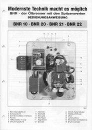 Bedienungsanleitung BNR 10 - 22 - Intercal