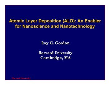 Atomic Layer Deposition (ALD): An Enabler for Nanoscience and ...