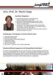 Univ.-Prof. Dr. Martin Kopp