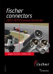 Broadcast Connector - 1053 Series Catalogue - Fischer Connectors