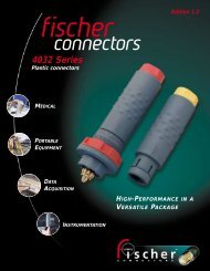 Plastic 4032 Series Catalog - Fischer Connectors