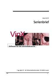 VinX - Serienbriefe Word 2010 - I-AG
