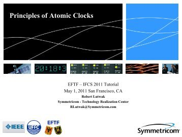 Introduction to Atomic Frequency Standards - 2011 Joint Conference ...