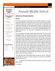 November/December Newsletter - Armada Area Schools