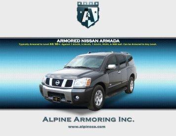 ARMORED NISSAN ARMADA - Alpine Armoring Inc.