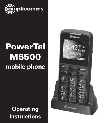 t484 m6500 mobile - Action On Hearing Loss