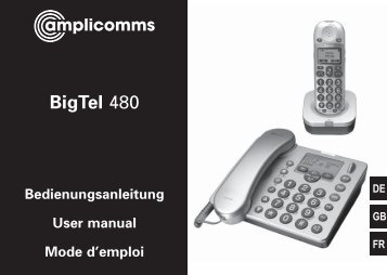 BigTel 480 User Guide - Hearing Direct