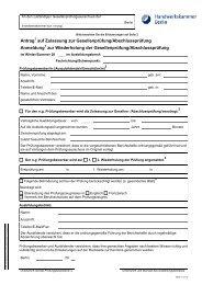 Antrag auf Zulassung zur Gesellenprüfung/Abschlussprüfung ...