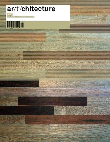ar/t/chitecture N°1.Magazine about swiss architecture, interior design, product design DE/FR/IT