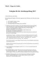 Fahrplan für die Abschlussprüfung 2013 - Friedrich Realschule ...