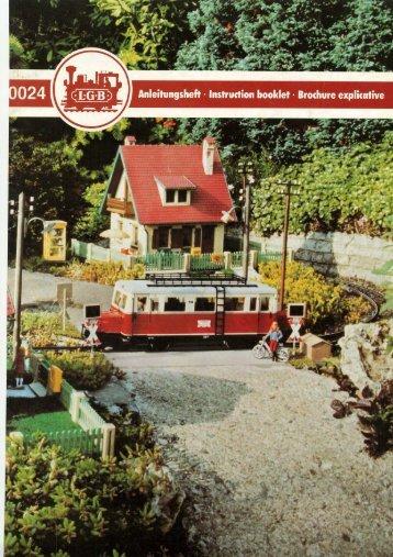 1982 • LGB Gartenbahn Anleitung - Gartenzug