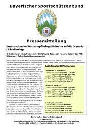 Internationaler Wettkampf München 2013 – Einladung an ... - BSSB