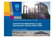 Verkehrliche Maßnahmen zu den Olympischen Spielen ... - its munich