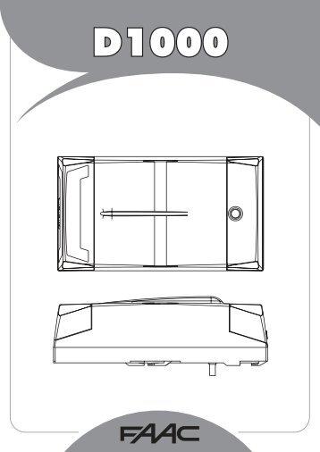 D1000 Garagenantrieb.pdf - FAAC Servicecenter Österreich