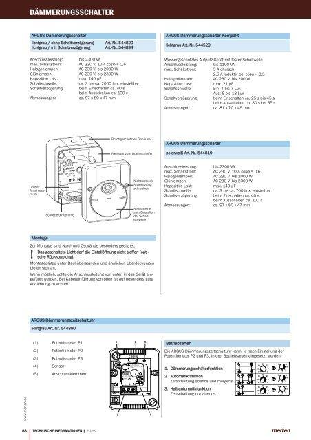 Technische Informationen