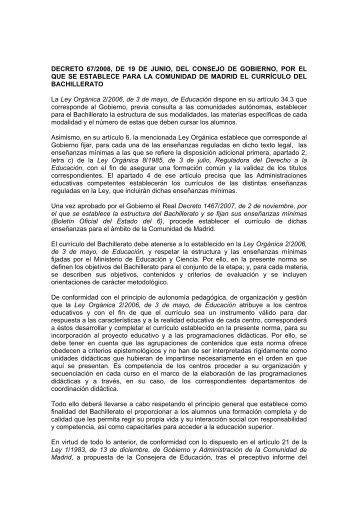 decreto_67_2008_curriculo_Bachillerato