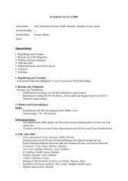 Protokoll vom 12.12.2006 Anwesende: Axel ... - FSR Biologie