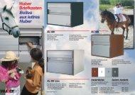 Huber Briefkasten Boîtes aux lettres Huber - Huber AG