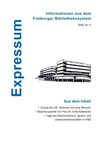 Nr. 5 - Universitätsbibliothek Freiburg - Universität Freiburg