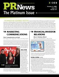 The Platinum Issue - PR News Online
