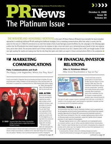 The Platinum Issue - PR News Online