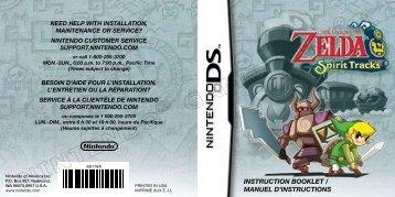 INSTRUCTION BOOKLET / MANUEL D'INSTRUCTIONS - Nintendo