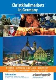 Christkindlmarkets in Germany - Eberhardt Reisen