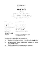 Protokoll der öffentlichen Gemeinderatssitzung vom 17. Januar 2012