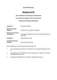 Protokoll der öffentlichen Gemeinderatssitzung vom 25. Oktober 2011