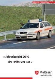 Jahresbericht 2010 der Helfer vor Ort - Die Malteser Grafentraubach ...