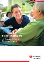 Wegweiser durch die Patientenverfügung