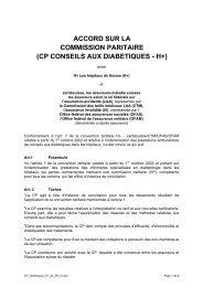 ACCORD SUR LA COMMISSION PARITAIRE (CP ... - Hplus