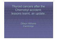Thyroid cancers after the Chernobyl accident; lessons learnt, an update.